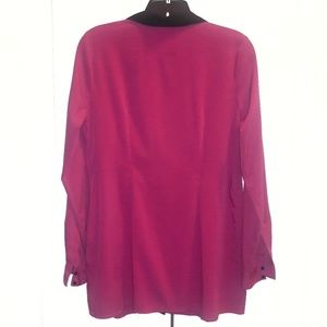 Motherhood Maternity Tops - Motherhood Pink Blouse with Black Trim Sz S